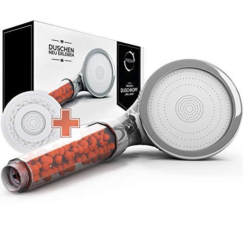 PRISMA Premium Duschkopf Handbrause wassersparend mit Druckerhöhung für...